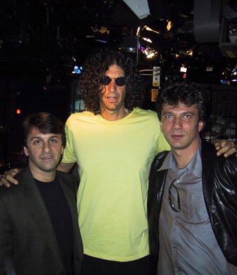 Andy Bloom with Howard Stern